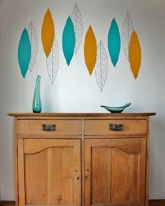 Mid-Century-Leaves wall sticker