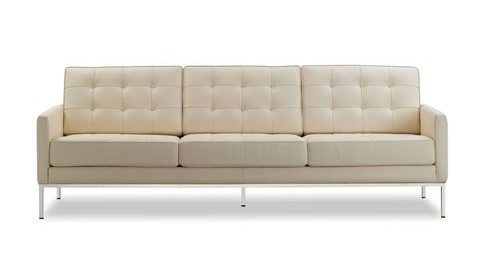 florence knoll sofa white