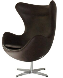 Egg Chair Dark Brown Leather