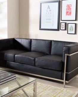 Le Corbusier Style LC2 3 Seater Sofa