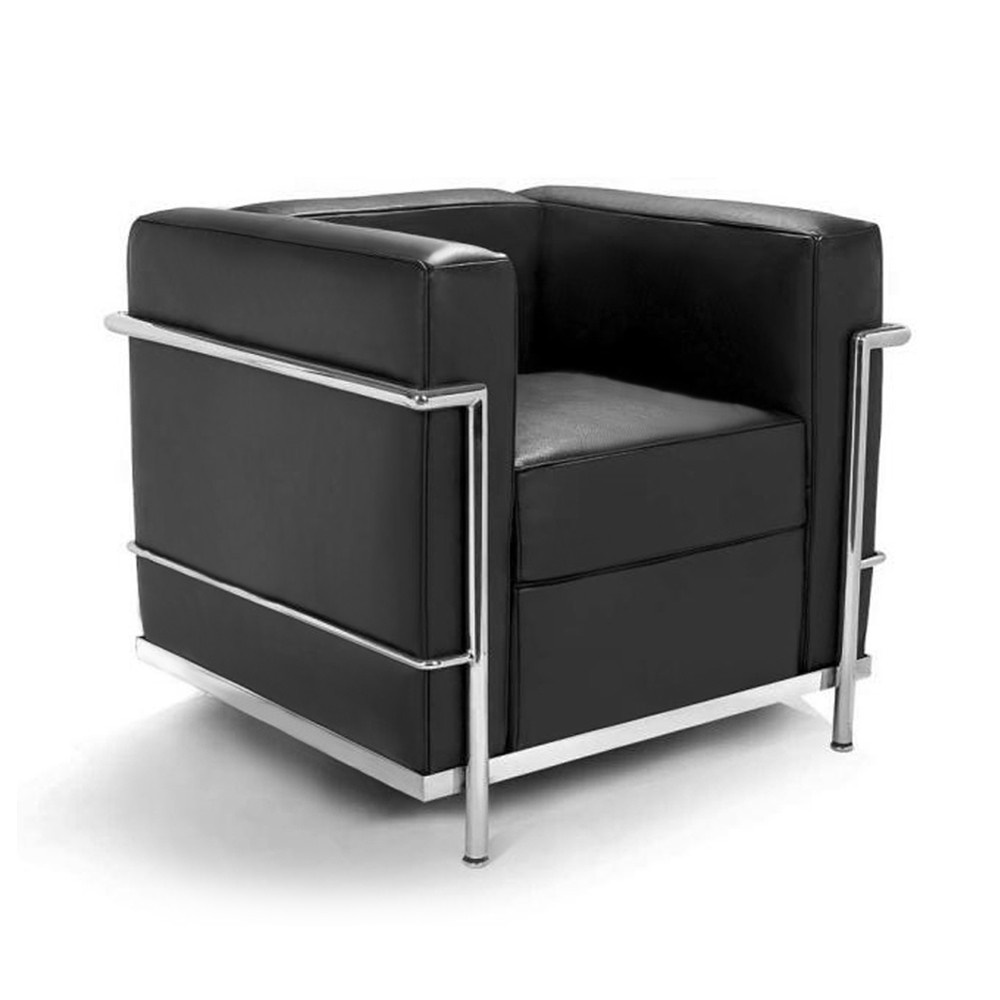 le corbusier style lc2 armchair. Black Bedroom Furniture Sets. Home Design Ideas