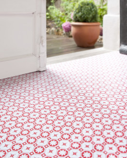 Rose des Vents Red Vinyl Flooring