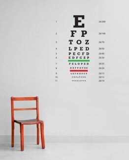 Eye Chart Wall Sticker