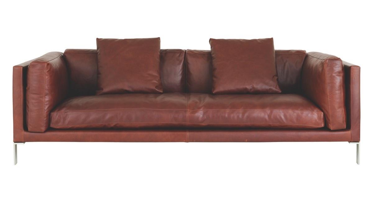 Newman leather sofa