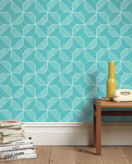 Sian Elin Rosette in Teal Wallpaper
