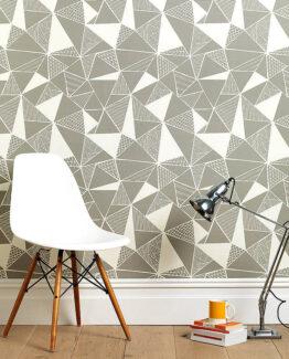 Sian Elin Tress in Grey Wallpaper