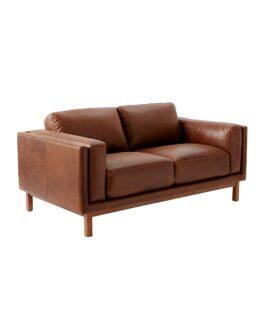 West Elm Dekalb Aniline Leather Love Seat 1