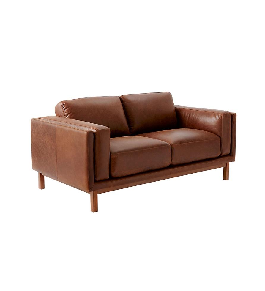 West Elm Dekalb Aniline Leather Love Seat