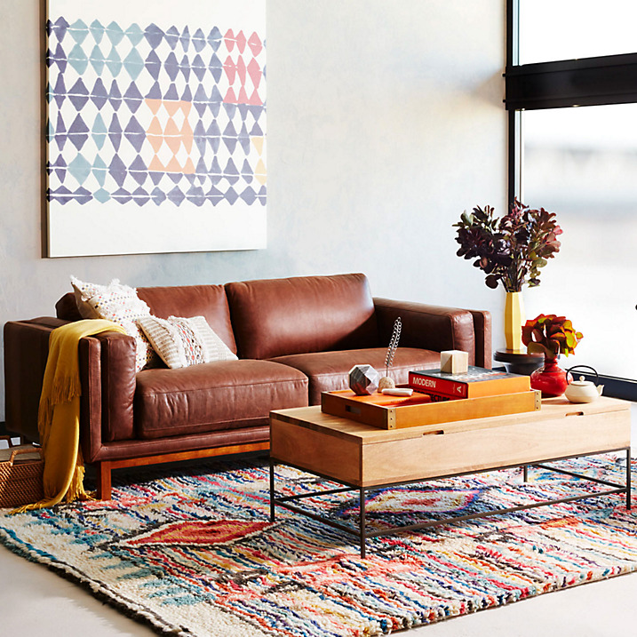 West Elm Dekalb Aniline Leather Sofa 2