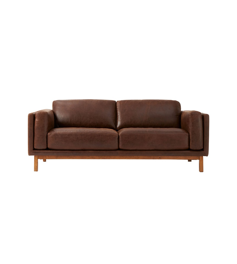 Superb West Elm Leather Couch Theyellowbook Wood Chair Design Ideas Theyellowbookinfo