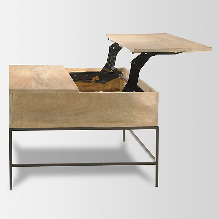Industrial Style Lift Top Coffee Table: West Elm Industrial Coffee Table