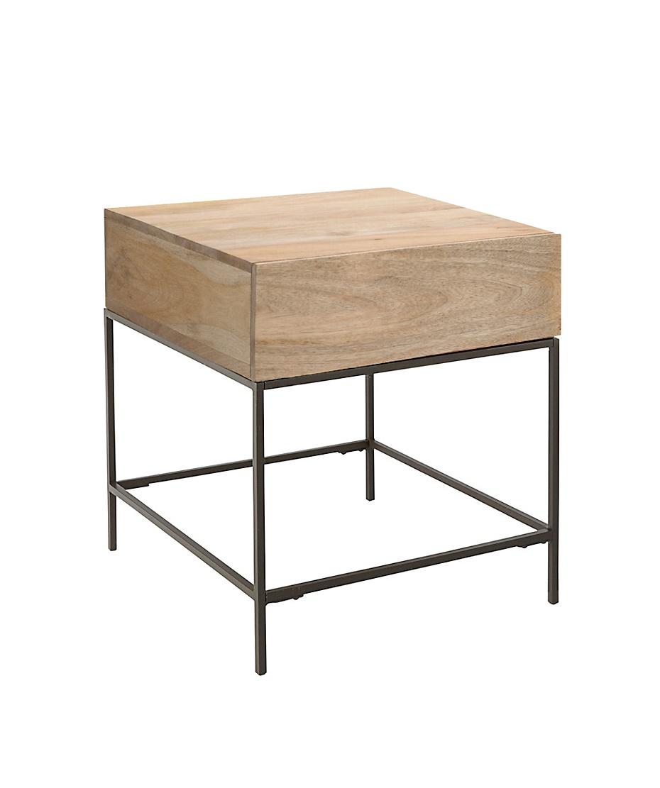 West Elm Rustic Storage Side Table