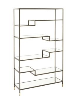 West Elm Tiered Tower Bookcase Bronze