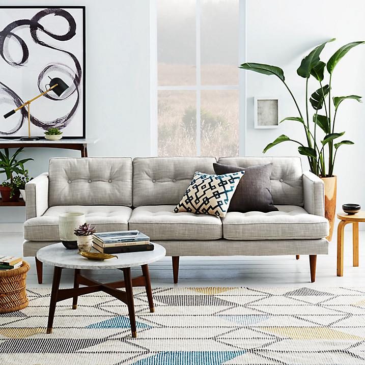 West Elm Peggy 3 Seater Sofa 1