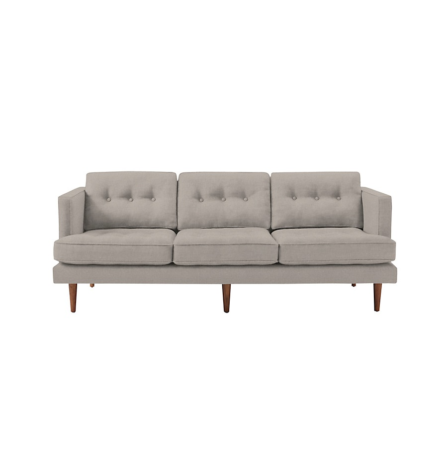 West elm peggy 3 seater sofa for Best west elm sofa