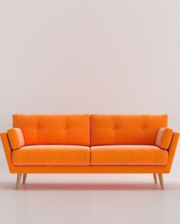sala orange velvet 3 seatersala orange velvet 3 steater