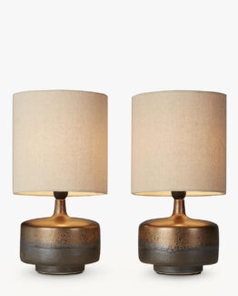 Delaney Metallic Glaze Ceramic Table Lamps