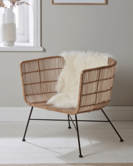 Flat Rattan Tub Chair