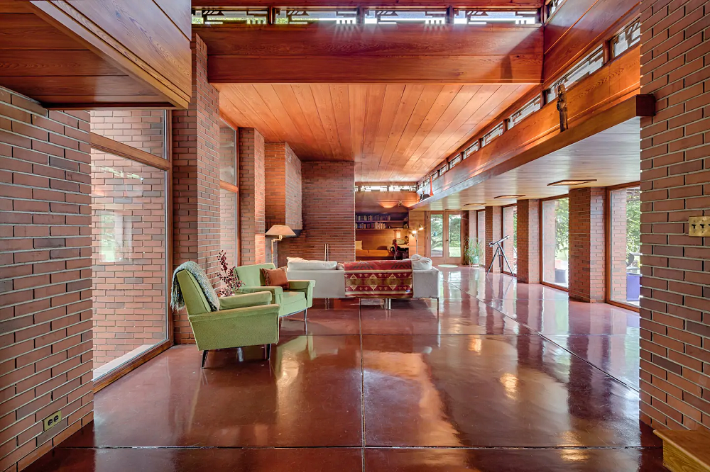 Still Bend Frank Lloyd Wright living room