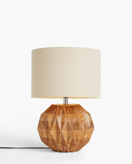 Geometric Wood Table Lamp
