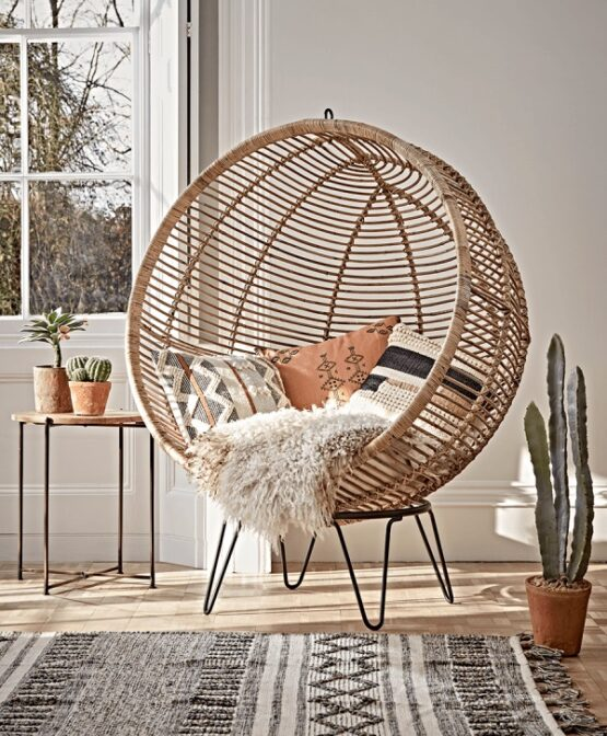 Round Rattan Cocoon Chair