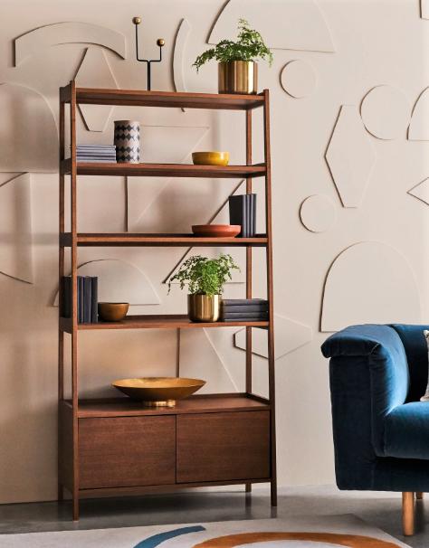 Marston Walnut Bookcase