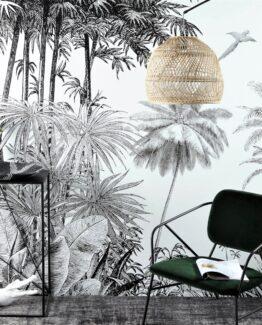 Paradise Jungle Print Wallpaper