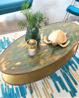 Zenith Brass Coffee Table