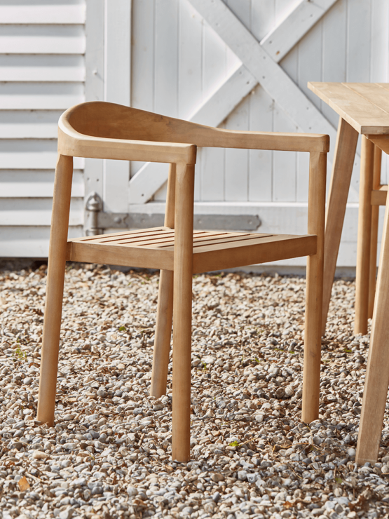 2 Indoor Outdoor Acacia Dining Chairs