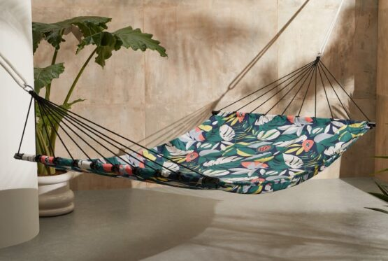 Hulia Cotton Canvas Jungle Print Hammock