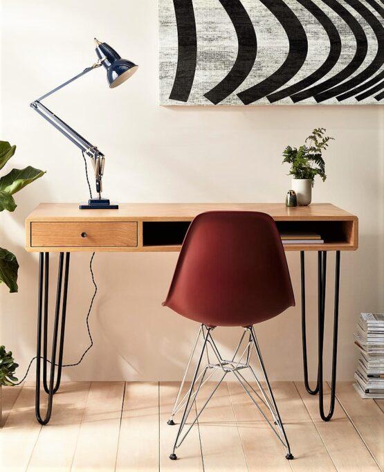 Oak Hairpin Desk