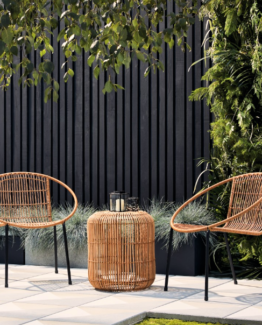 Tara Rattan Table and 2 Chair Set