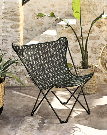 Sphynx Folding Fabric and Metal Chair