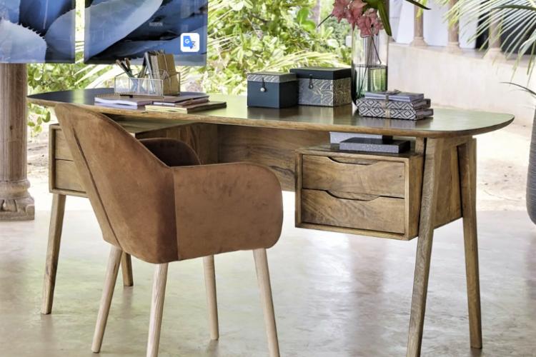 Janeiro Mango Wood Desk