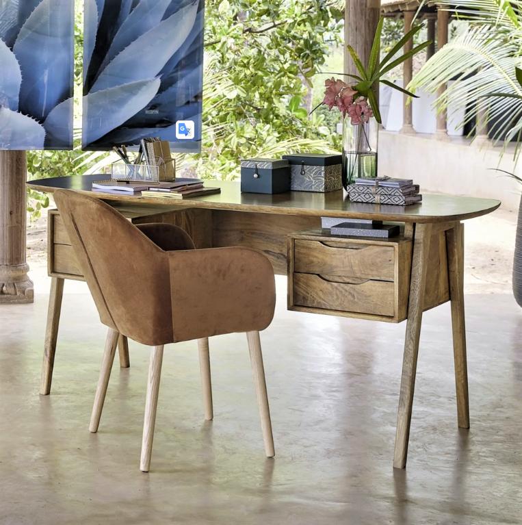 Janeiro Mango Wood Desk Mad About Mid, Mango Wood Desk