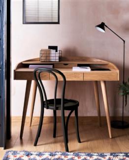 Etta Curved Oak Desk