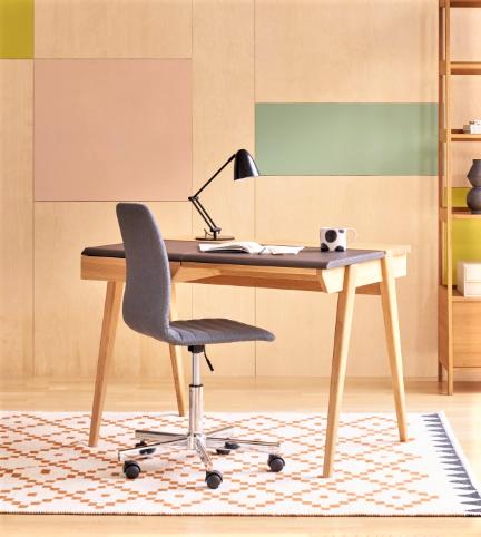 Beckett Oak and Leather Desk