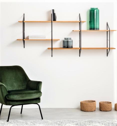 Belfast Wooden and Metal Shelves