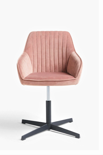 Brooks Velvet Office Chair