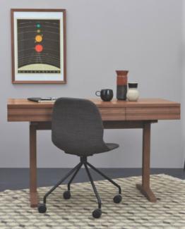 Enzo 3 Drawer Walnut Desk