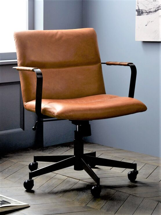 West Elm Cooper Leather Office Chair