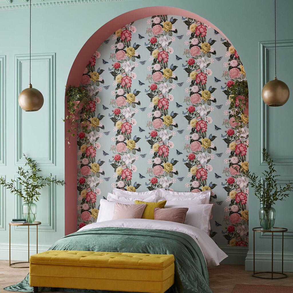 Bloomsbury Neo Mint Wallpaper