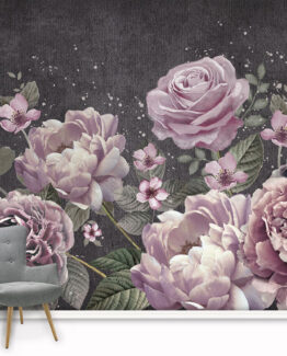 Purple Bloom Wall Mural