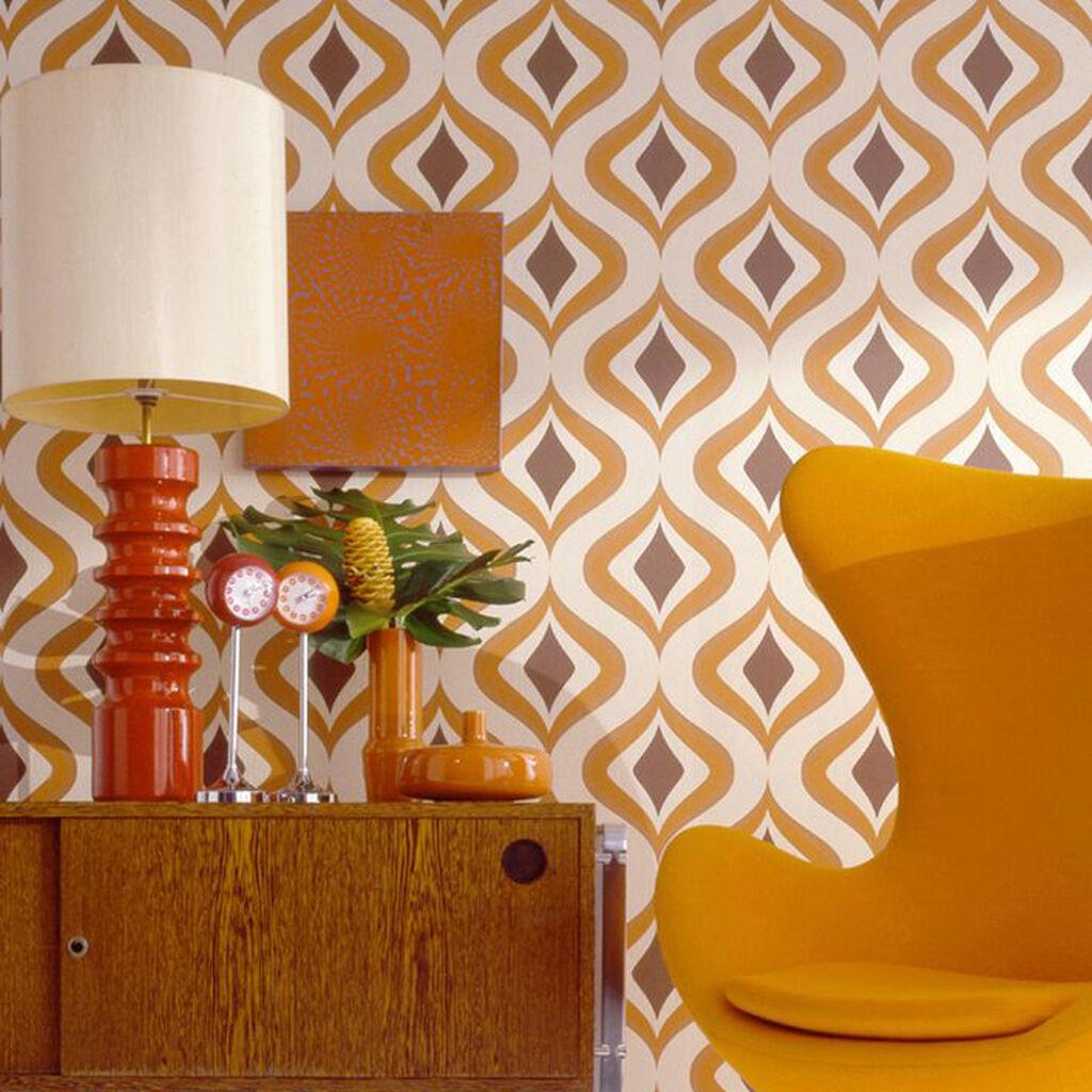 Trippy Orange Wallpaper