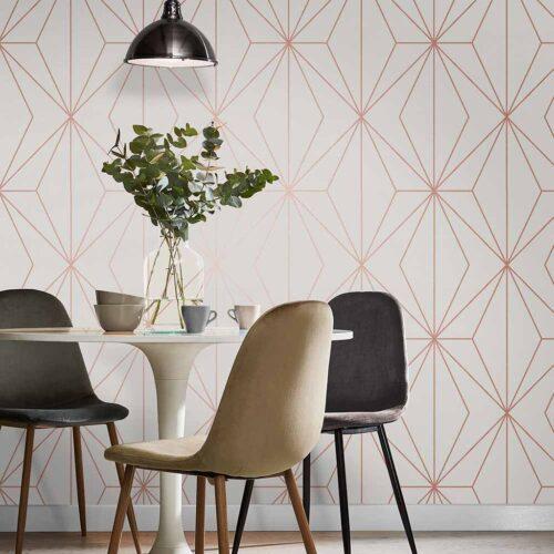 White Rose Gold Wallpaper