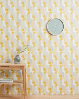 Yellow Arcade Wallpaper