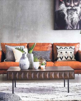 New Acacia Leather Sofa