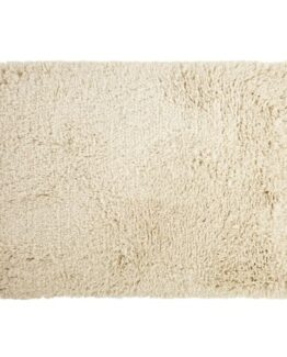 Dolce Hand-Woven Shaggy Rug in Ecru Cotton and Wool