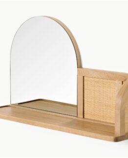 Liana Arch Mirror with Shelf