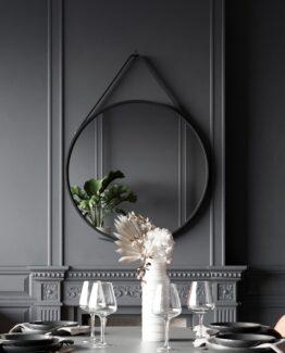 Hanging mirror black